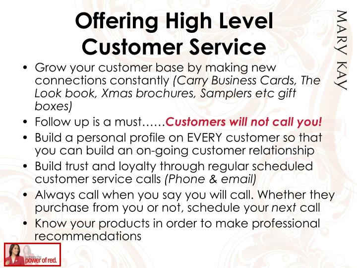 Offering High Level Customer Service