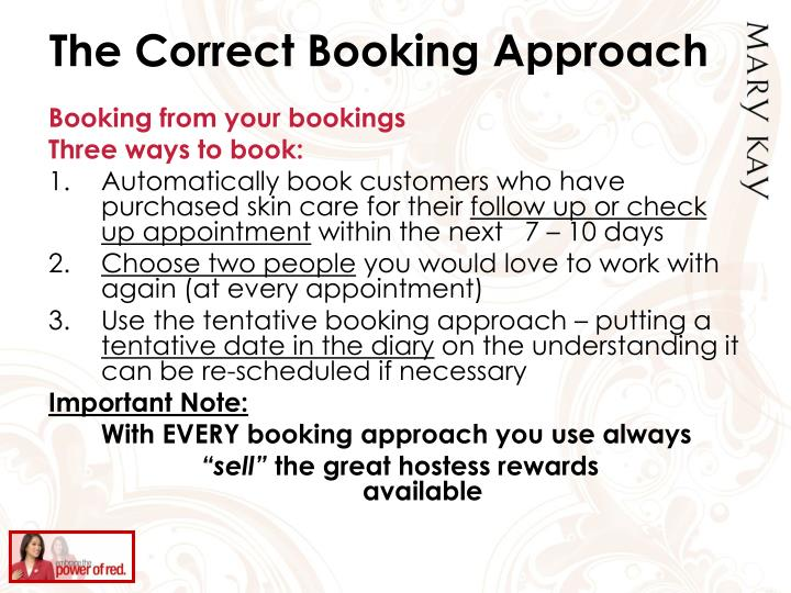 The Correct Booking Approach