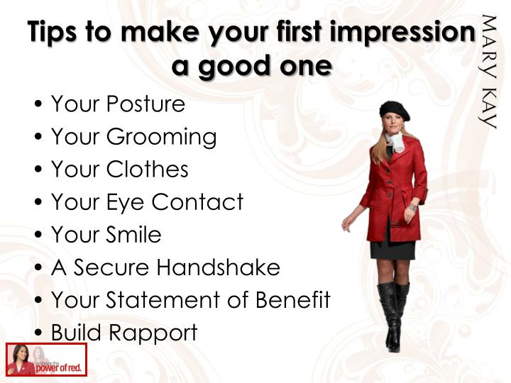 Tips to make your first impression