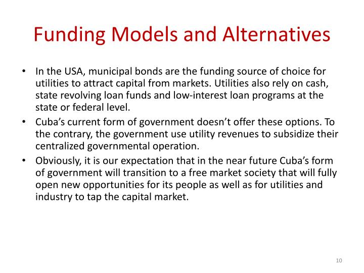 Funding Models and Alternatives