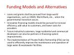 funding models and alternatives1