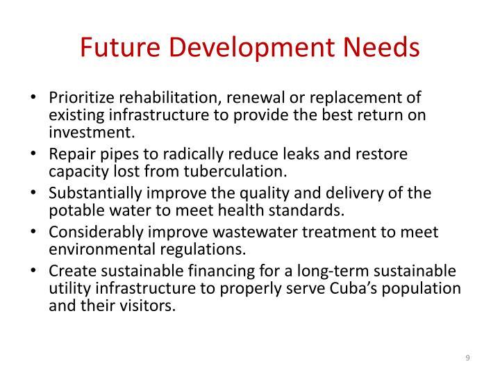 Future Development Needs
