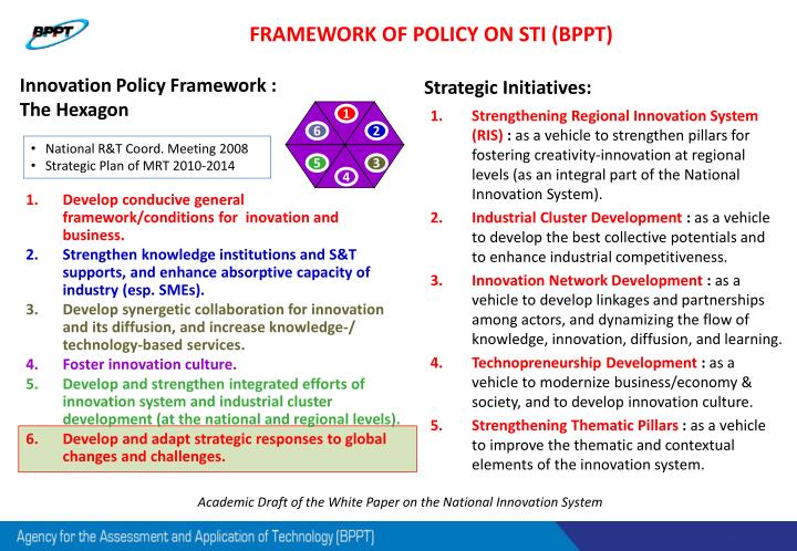 FRAMEWORK OF POLICY ON STI (BPPT)