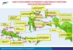 map of development of province s core product processing java eastern indonesia