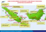map of development of province s core product processing sumatera kalimantan