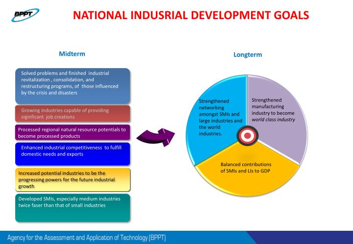 NATIONAL INDUSRIAL DEVELOPMENT GOALS