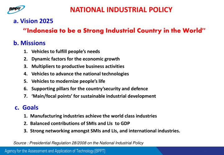 NATIONAL INDUSTRIAL POLICY