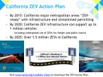 california zev action plan