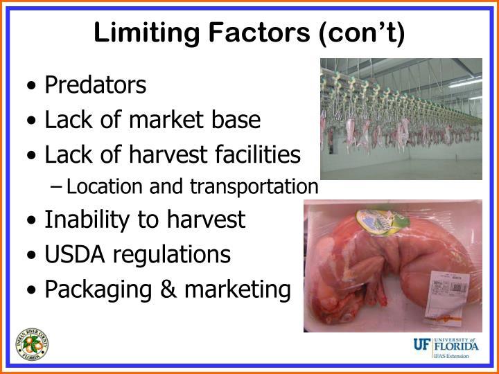 Limiting Factors (