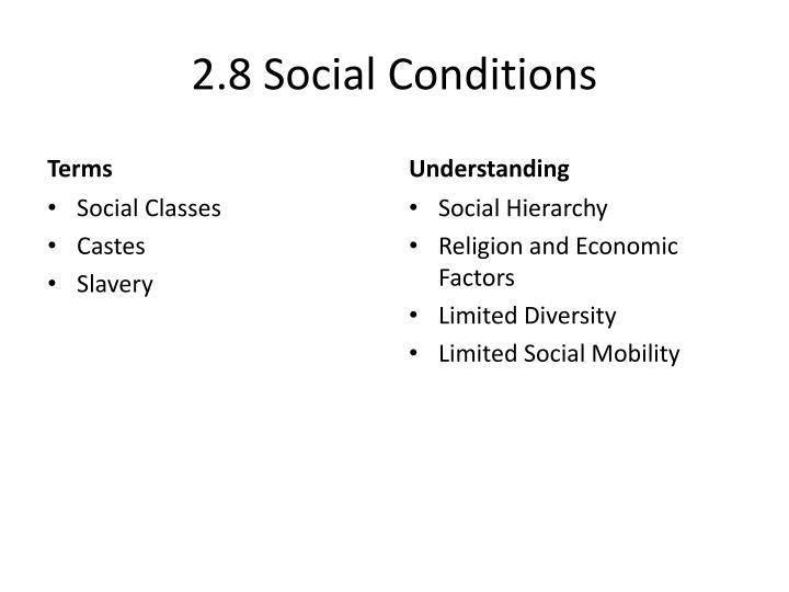 2.8 Social Conditions