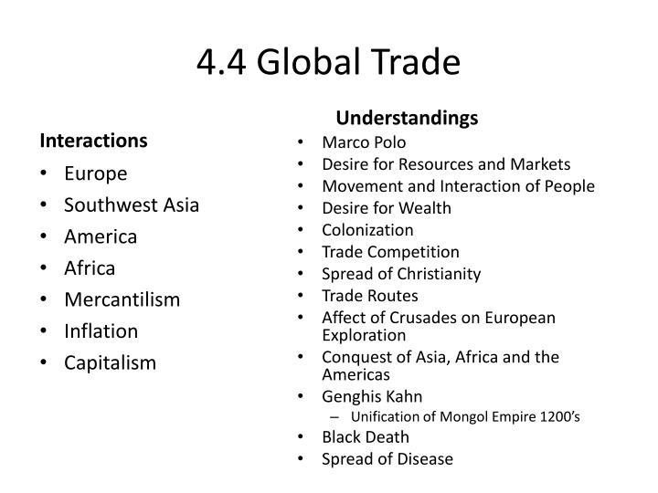 4.4 Global Trade