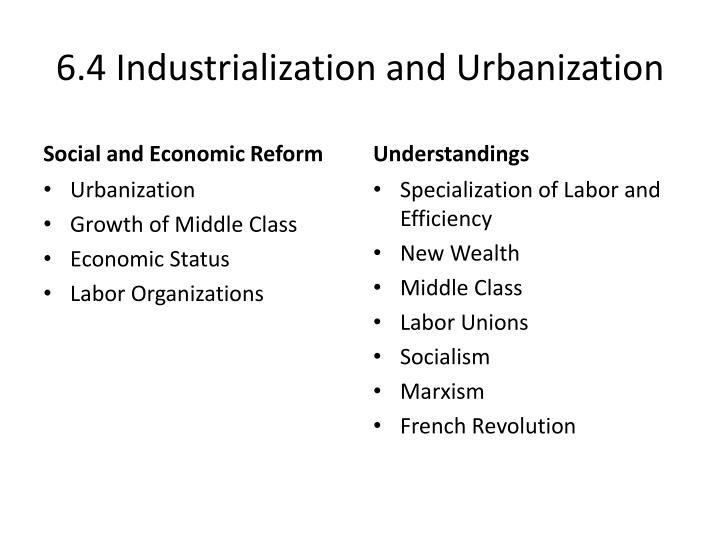 6.4 Industrialization and Urbanization