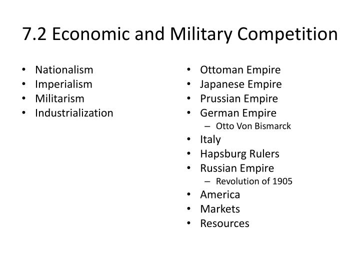 7.2 Economic and Military Competition