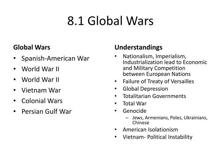 8.1 Global Wars