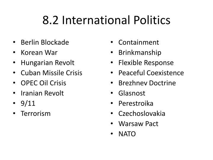 8.2 International Politics