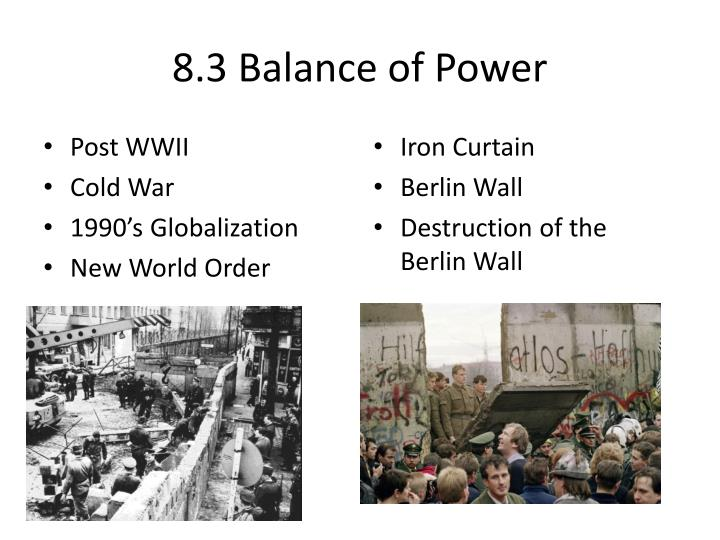 8.3 Balance of Power