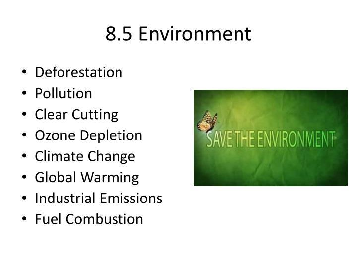8.5 Environment