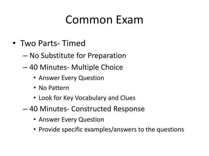 Common Exam