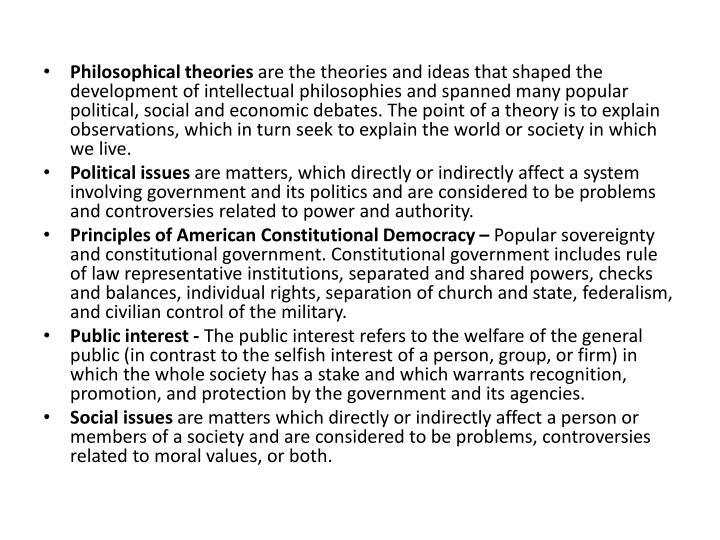 Philosophical theories