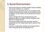 2 social environment