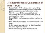 3 industrial finance corporation of india ifci