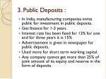 3 public deposits