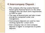 4 intercompany deposit