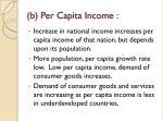 b per capita income