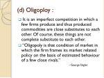 d oligoploy