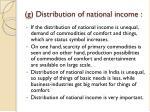 g distribution of national income
