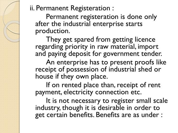 ii. Permanent