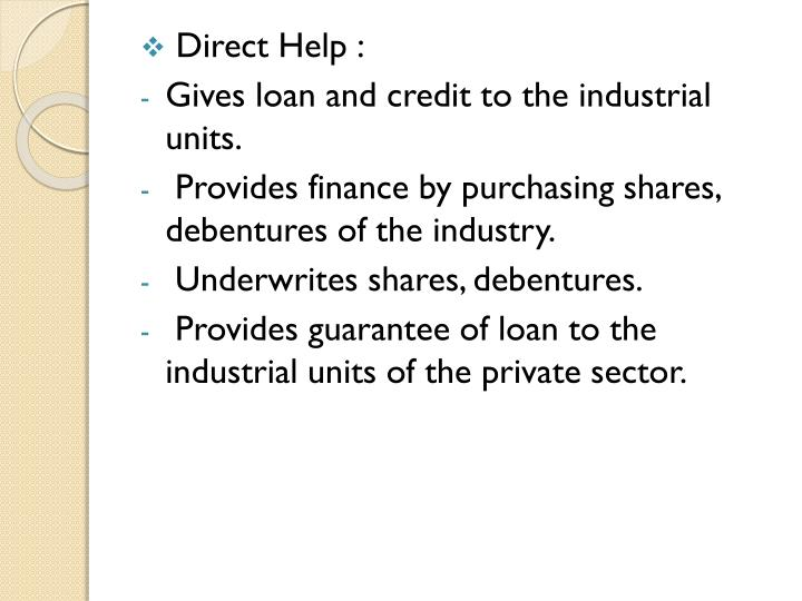 Direct Help :