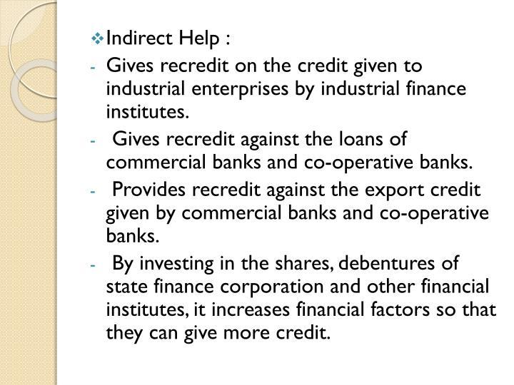 Indirect Help :