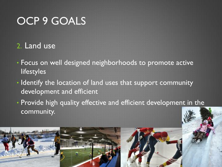 OCP 9 Goals