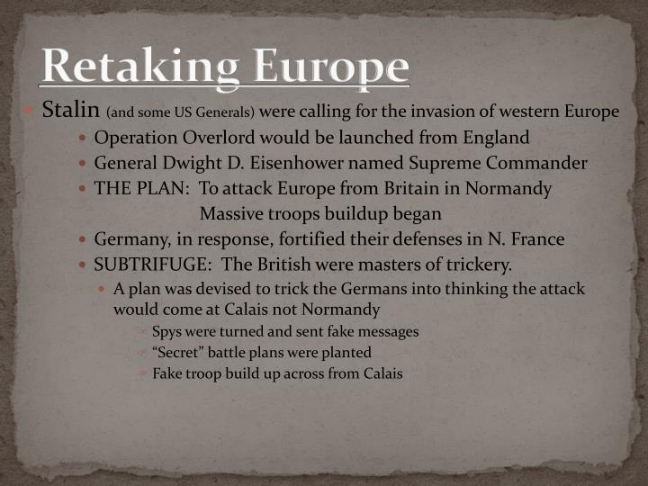 Retaking Europe