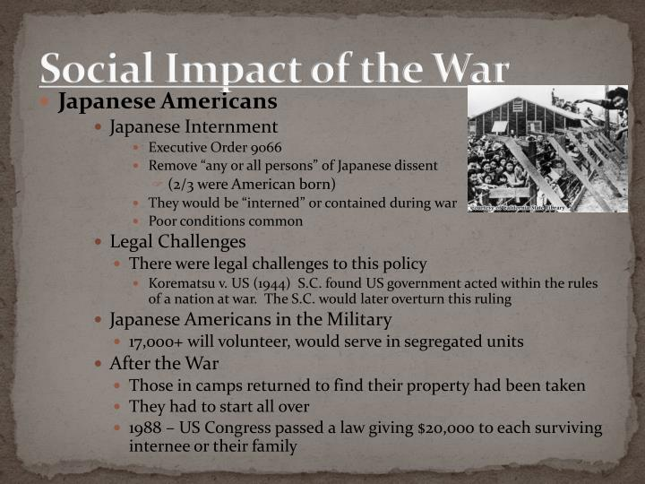 Social Impact of the War