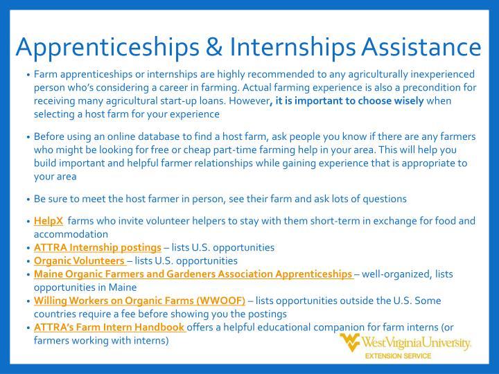 Apprenticeships &