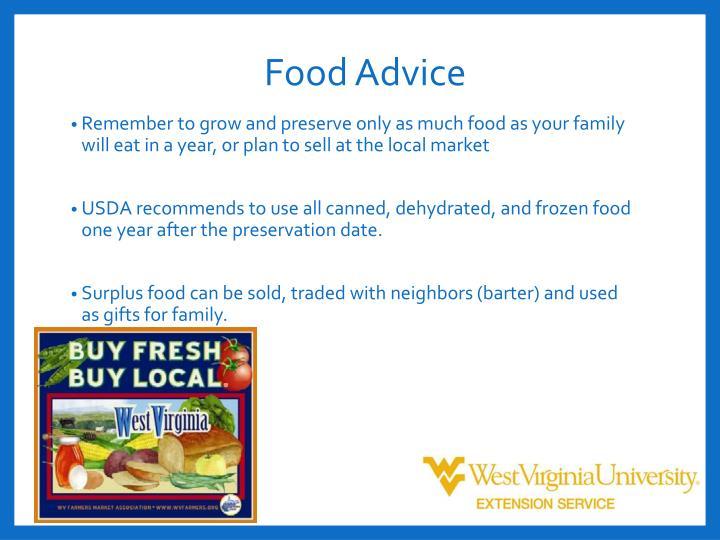 Food Advice