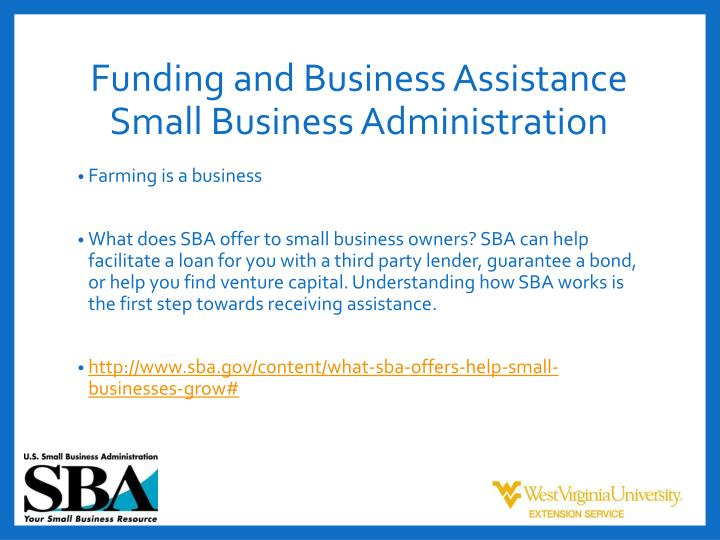 Funding and Business Assistance