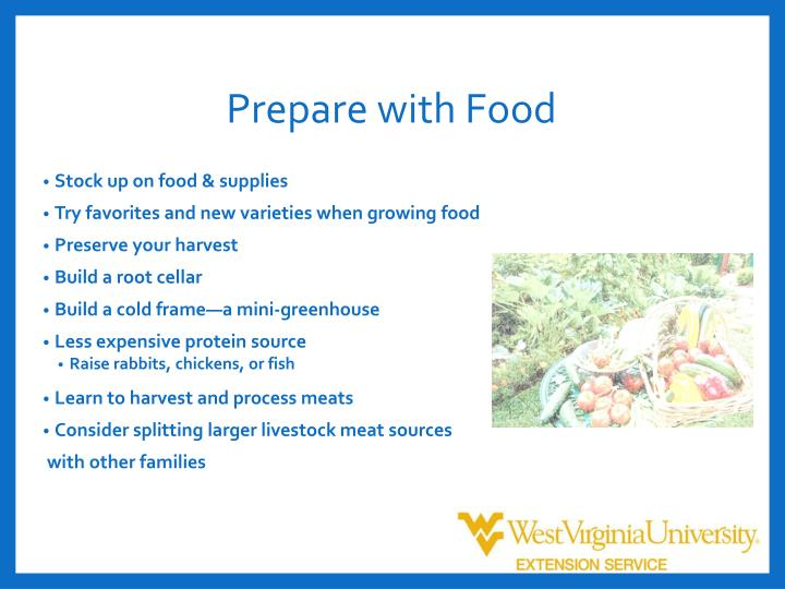 Prepare with Food