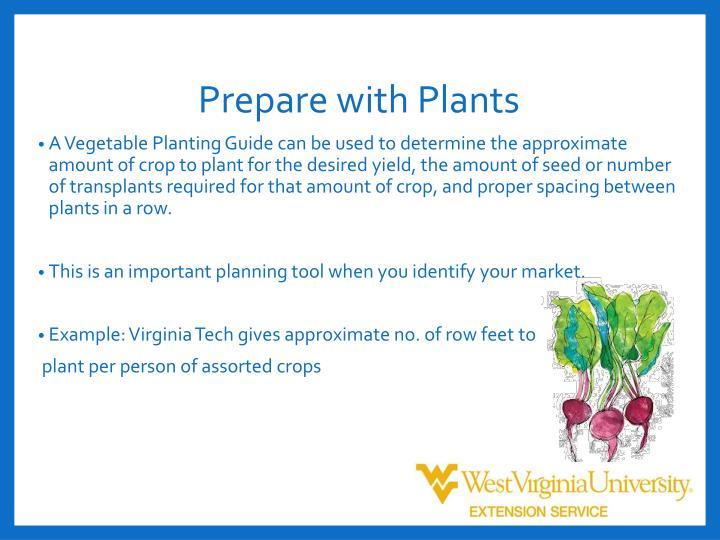 Prepare with Plants