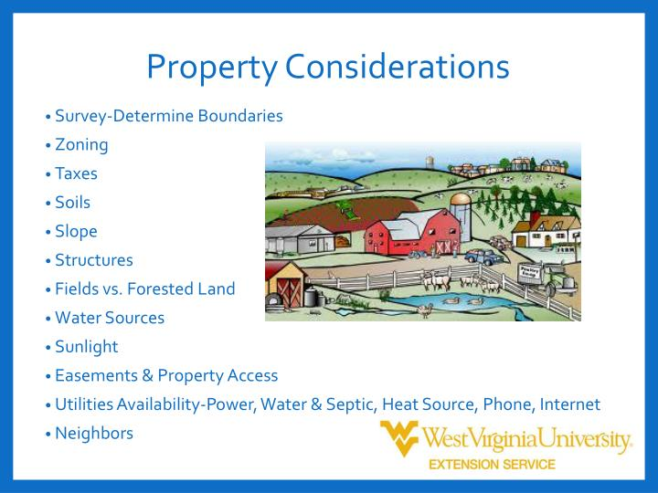 Property Considerations