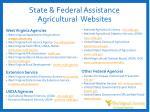 state federal assistance agricultural websites