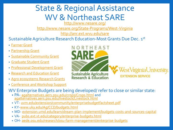 State & Regional Assistance