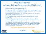 usda assistance adjusted gross revenue lite agr lite