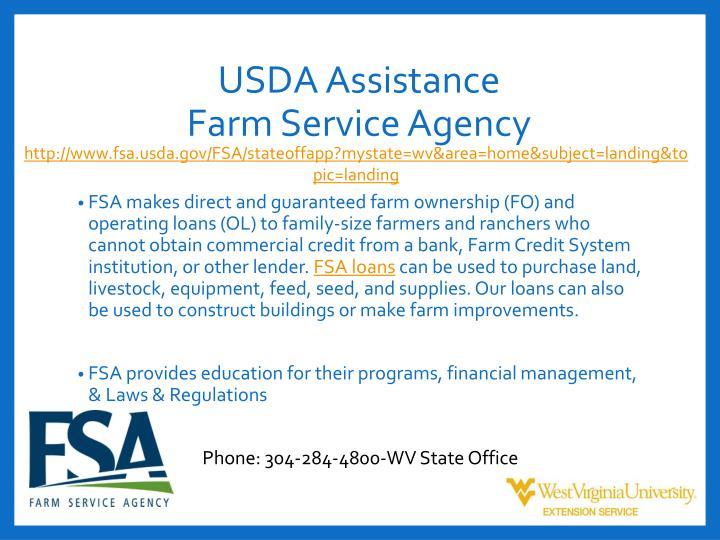 USDA Assistance