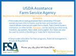 usda assistance farm service agency