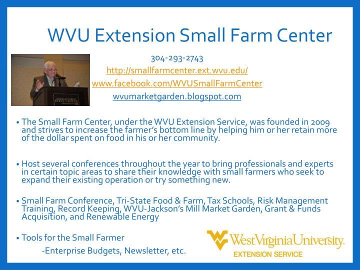 WVU Extension Small Farm Center