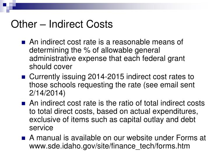 Other – Indirect Costs