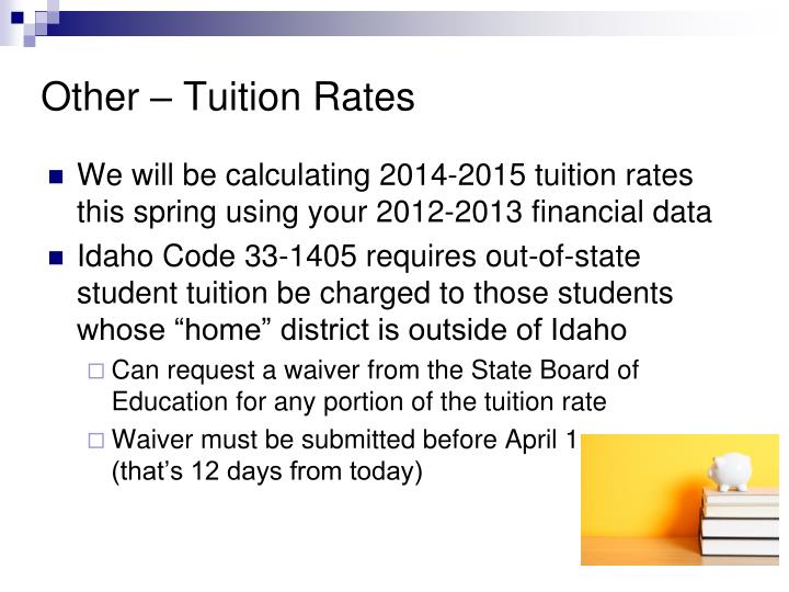 Other – Tuition Rates